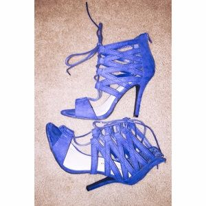 Madden Girl Electric Blue Heels 