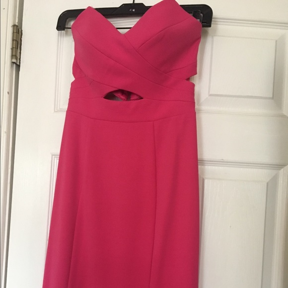 Decode Dresses Lord And Taylor Pink Cutout Evening Gown Poshmark