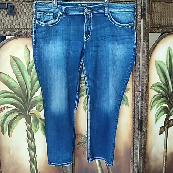 70% off Silver Jeans Denim - Silver capris 22 plus size from !!deb ...