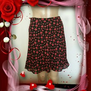 Hillard and Hanson Dresses & Skirts - Ravishing Red Rose Skirt