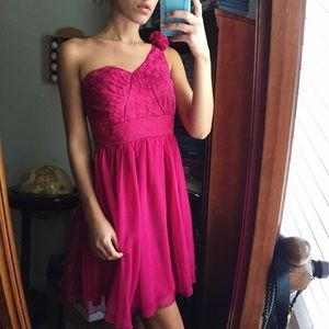 Fuchsia Pink Prom/Cocktail Dress