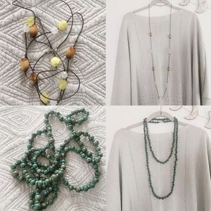 Vintage beaded necklace bundle