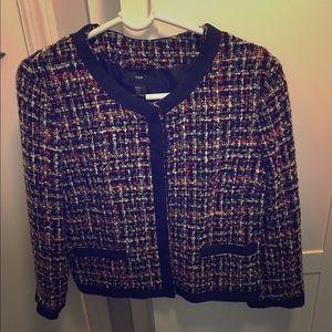 Multi color tweed blazer
