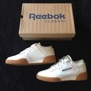 805913f142d Reebok Shoes - White Reebok Classic Workout Low Gum Sole M7 W 8.5