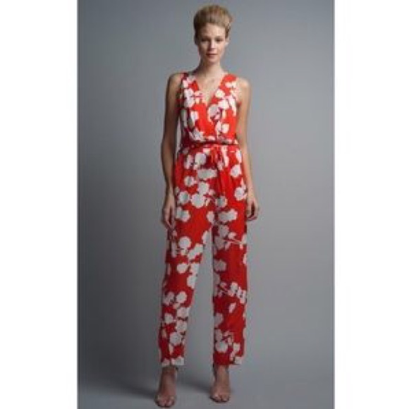 485466fde6a Diane von Furstenberg Pants - HP✨ Diane von Furstenberg Johnseen Floral  Jumpsuit
