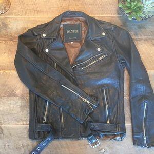 Jackets & Blazers - Vintage Leather Biker Jacket