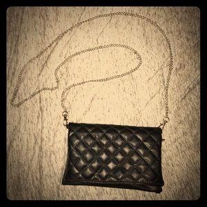 Handbags - Black Quilted Crossbody Bag