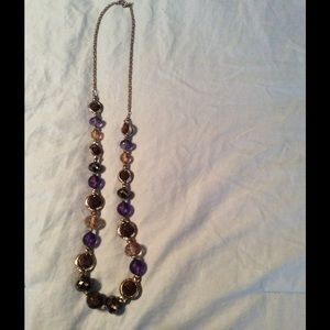 Zanone Jewelry - Long Gold and Purple Stone Necklace