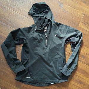 Nike Dri-fit Black Running Pullover Hoodie