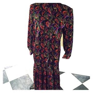 Vintage silk paisley dress