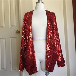 Vintage 100% Silk Sequin Cardigan