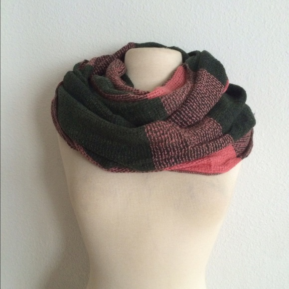 59e63d6122d72 Accessories   Last One Pink Green Infinity Scarf   Poshmark