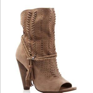 Dolce Vita Peep toe booties leather