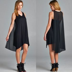 """Finder's Keepers"" Little Black Cape Dress"