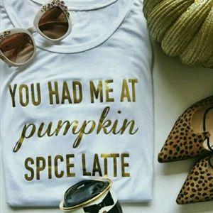 T&G Tops - 💮Pumpkin spice latte flowy tee💮 1 left