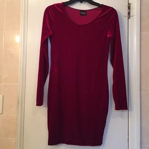 Mystique Boutique Red Velvet Dress