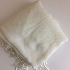 Forever 21 Accessories - Cream Fringe Scarf