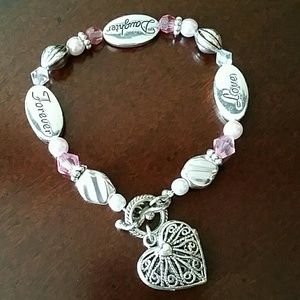 Jewelry - Forever, Love, Daughter Bracelet