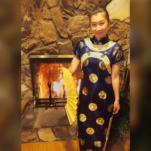 ✨ Traditional Oriental Silk Cheongsam Dress