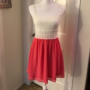 ... Crochet Dress with Peek a Boo Waist Matty M ... ed0eaf1f02ae