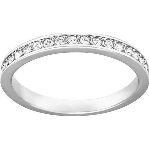 127074f8c Swarovski Jewelry | Rare Crystal Ring Size 52 Us 6 | Poshmark