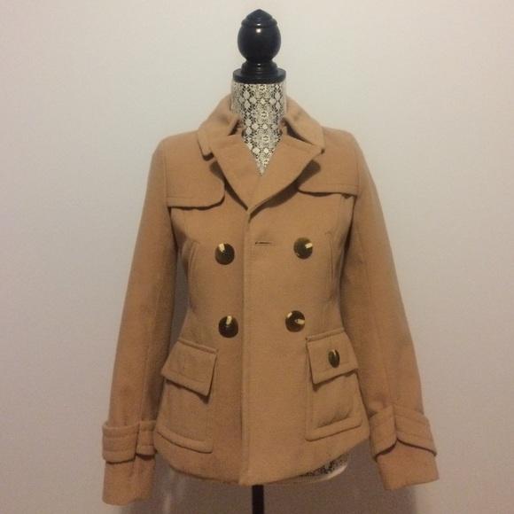 89% off Kensie Jackets & Blazers - Tan Fall/Winter Pea Coat: extra ...