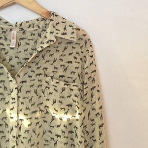 xhilaration animal print blouse