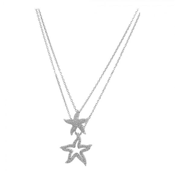 2c1ddfff5 Swarovski Silver Holly Starfish Double Pendant. M_57f972f641b4e022e000048b.  Other Jewelry ...