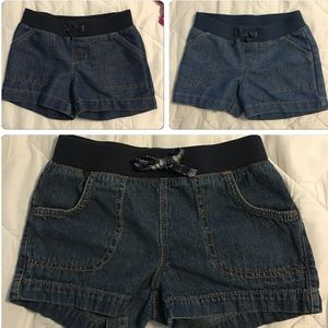 Faded Glory Other - 💕Pull on denim shorts💙knit waistbands💕6/6x