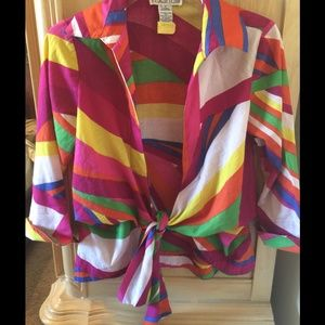 Beautiful Colorful Tie Up Blouse.