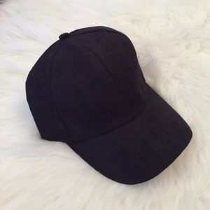 Accessories - Black Suede Baseball Cap LAST ONE!