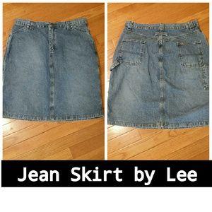 Lee Dresses & Skirts - LEE JEAN SKIRT! SIZE 14