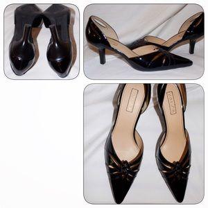 "Unisa Shoes - Black Patent D'Orsay Pump, 7.5 M ""Vacation"" Unisa"