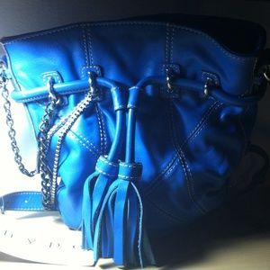 Hype trendy blue leather