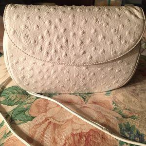 Koret Handbags - Koret ostrich embossed leather cross body