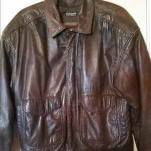 Wilson's Thinsulate Brown Leather Bomber Jacket.