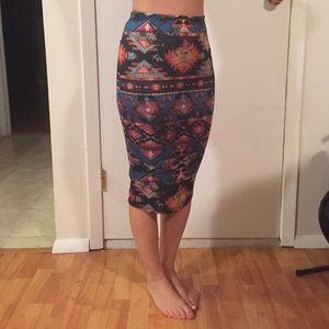 Dresses & Skirts - Printed Pencil Skirt