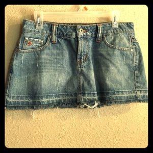 Paris Blues Dresses & Skirts - Frayed Jean Mini Skirt