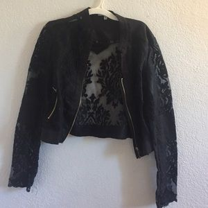 Black Lace Floral Jacket