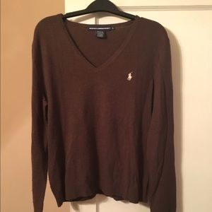 Ralph Lauren V Neck Sweater - Brown