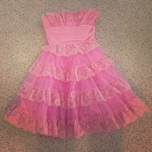 Betsey Johnson Dresses & Skirts - Betsey Johnson Pink Tea Party Dress