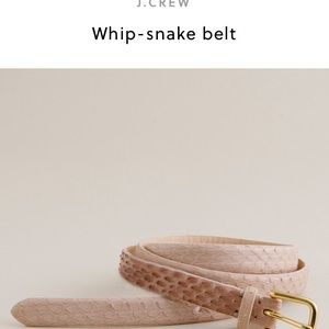 J. Crew Accessories - J. Crew whip snake belt in pink gold