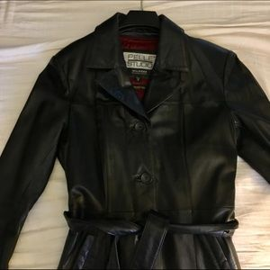 Wilsons Leather Jackets & Blazers - WILSONS's Long black Natural Leather coat - NEW