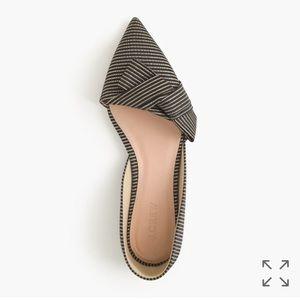 J. Crew Shoes - NIB Sloan Gold and black obi bow D'orsay flats