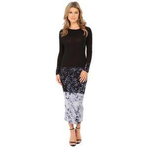 new | Young Fabulous & Broke Splatter Midi Dress