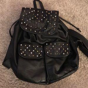 Deena & Ozzy Black Studded Backpack