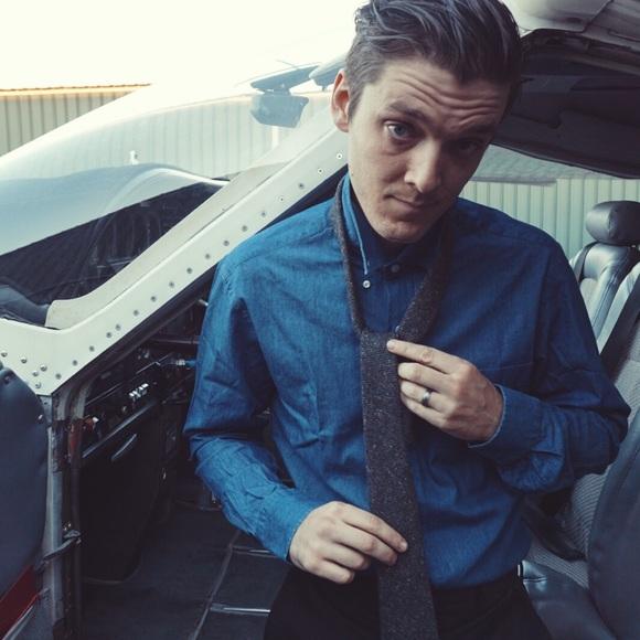 Alexander Olch Other - SOLD Alexander Olch Grey Wool Necktie
