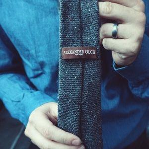 Alexander Olch Accessories - SOLD Alexander Olch Grey Wool Necktie