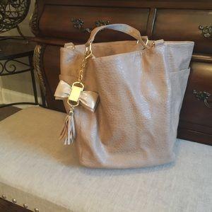 Deux Lux Handbags - Deux Lux handbag tan leather reversible suede