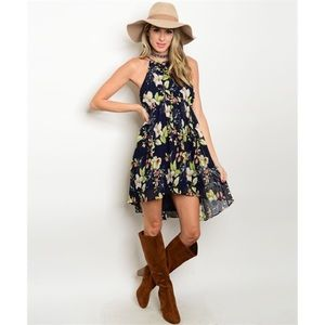 Fall floral dress tunic